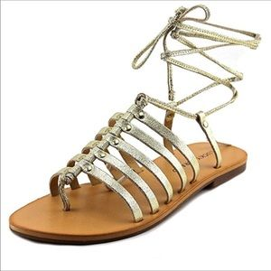 3b8f530302bc Lucky Brand. Lucky Brand Colette metallic gladiator sandals